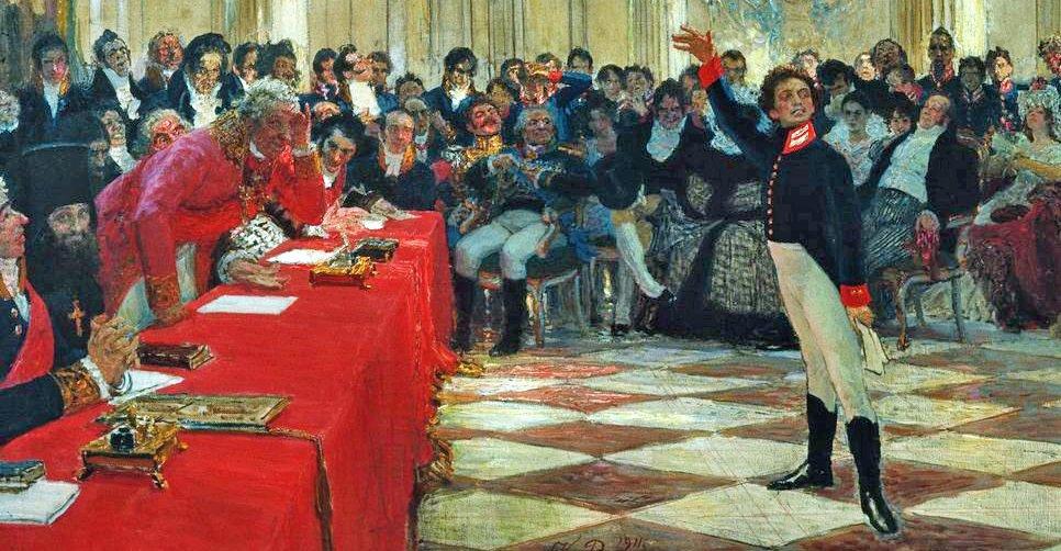 для державин и пушкин картинка его назначении сообщил