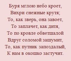 """Тема и идея стихотворения Пушкина """"Зимний вечер"""""""